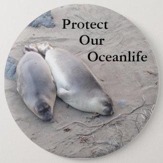 Schützen Sie unseren Oceanlife Knopf Runder Button 15,3 Cm