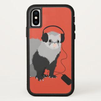 Schützende große Kopfhörer-lustiges iPhone X Hülle