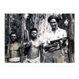 Schützende Neu-Guinea Holzfäller Postkarte