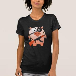 Schützendes Schwein T-Shirt