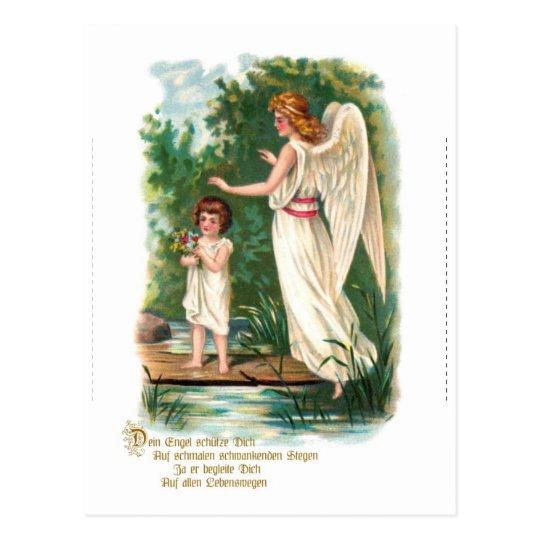 Schutzengel am Steg Postkarte