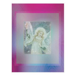 Schutzengel-Collage durch Amelia Carrie Postkarte