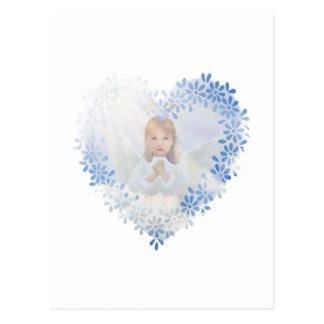 Schutzengel in einem Herzen Postkarten