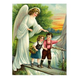 Schutzengel, Kinder und Brücke Postkarten
