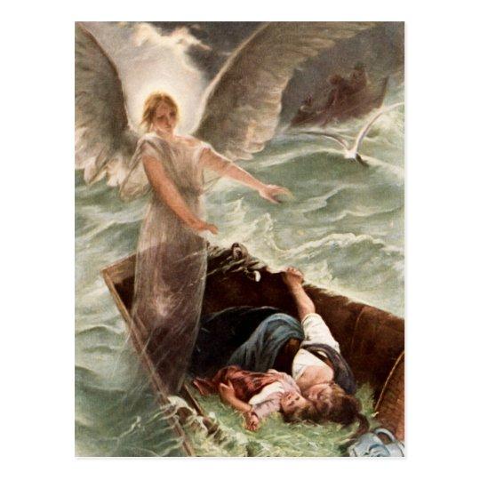 Schutzengel Meer Mutter und Kind Karl Raupp Postkarte