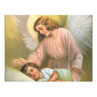 Schutzengel mit Kind Postkarte