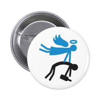 Schutzengel Runder Button 5,1 Cm