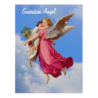 Schutzengel-und Kinderinspirierend Postkarte