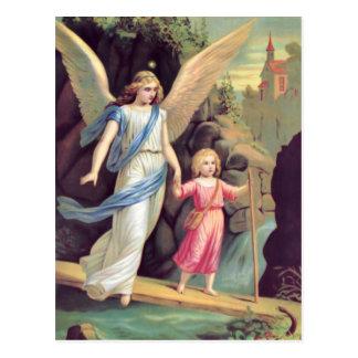 Schutzengel und Mädchen Postkarten