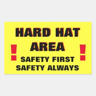 Schutzhelm-Bereichs-Sicherheit erste Rechteckiger Aufkleber