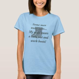 Schutzhelm-und Arbeits-Stiefel T-Shirt