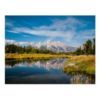 Schwabachers Landung in großartigem Teton Postkarte