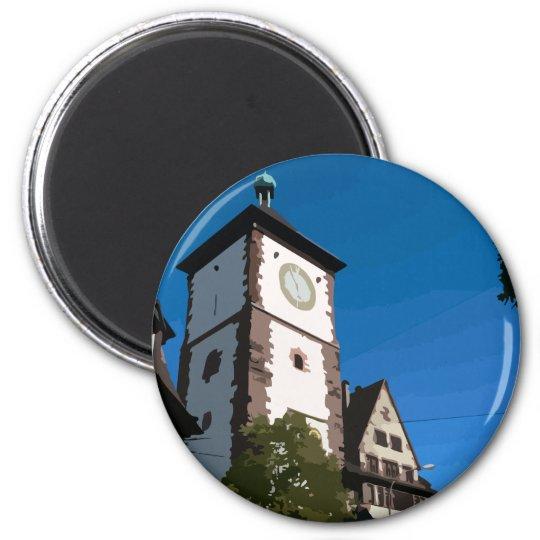 Schwabentor Freiburg Runder Magnet 5,1 Cm