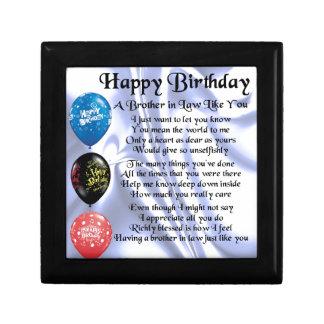 Schwager-Gedicht - alles Gute zum Geburtstag Schmuckschachtel