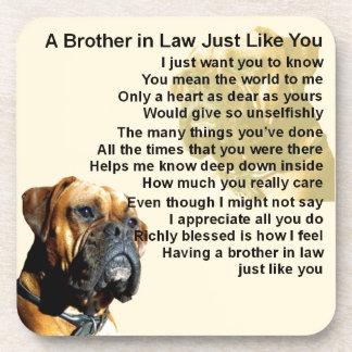 Schwager-Gedicht - Boxer-Hund Getränkeuntersetzer