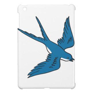 Schwalbe, die hinunter das Zeichnen fliegt iPad Mini Hülle