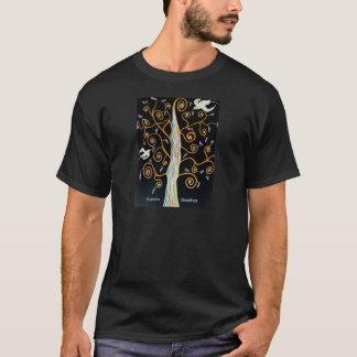 Schwalben und Baum Frohe Festtage T-Shirt