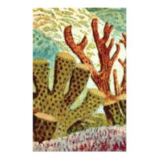 Schwämme und Koralle Briefpapier