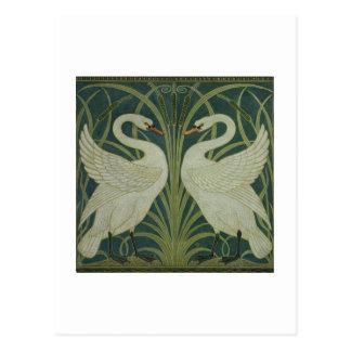 """""""Schwan-, Eile- und Iris"""" Tapetenentwurf Postkarte"""