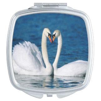Schwan-quadratischer kompakter Spiegel Schminkspiegel