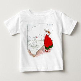 Schwan Vintag die wirkliche Mutter-Gans Baby T-shirt
