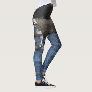 Schwan-Vogel-wild lebende Tiere ganz über Leggings