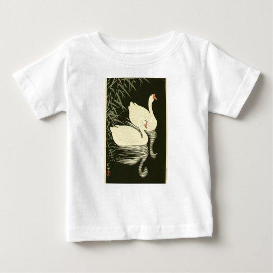 Schwäne und Schilfe Baby T-shirt