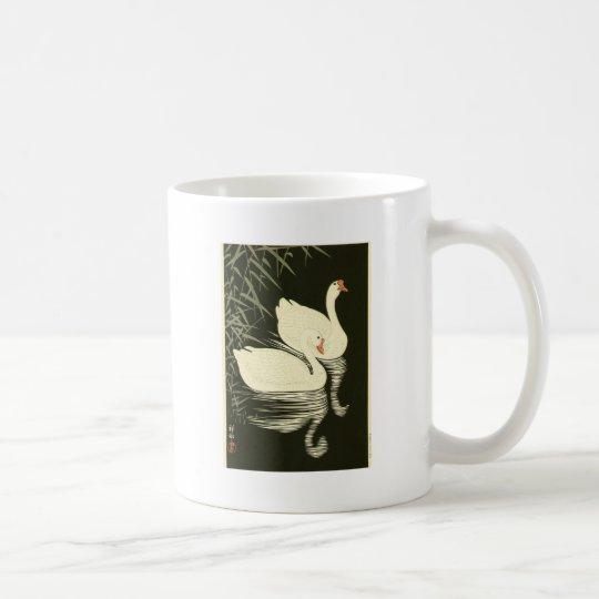 Schwäne und Schilfe Kaffeetasse