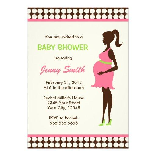 schwangere frauen babyparty 12 7 x 17 8 cm einladungskarte zazzle. Black Bedroom Furniture Sets. Home Design Ideas