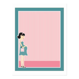 Schwangere Frauen-Grenze Postkarte