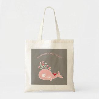Schwangere rosa Mama-Wal-Mädchen-Babyparty-Tasche Tragetasche