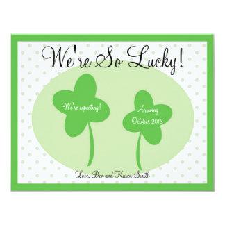 Schwangerschafts-Mitteilung St. Patricks 10,8 X 14 Cm Einladungskarte