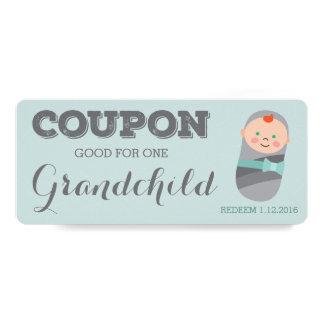 Schwangerschafts-Mitteilungs-Kupon für Enkelkind 10,2 X 23,5 Cm Einladungskarte