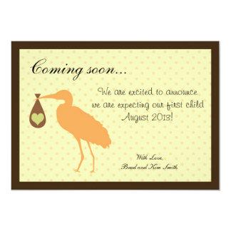 Schwangerschafts-Mitteilungs-personalisierter 12,7 X 17,8 Cm Einladungskarte