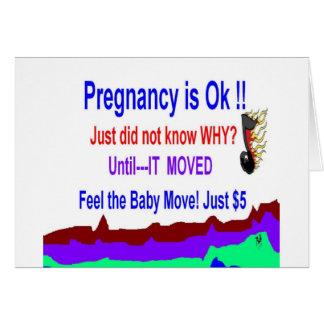 Schwangerschafts-Mitteilungs-spezielle Gruß-Karten Grußkarte
