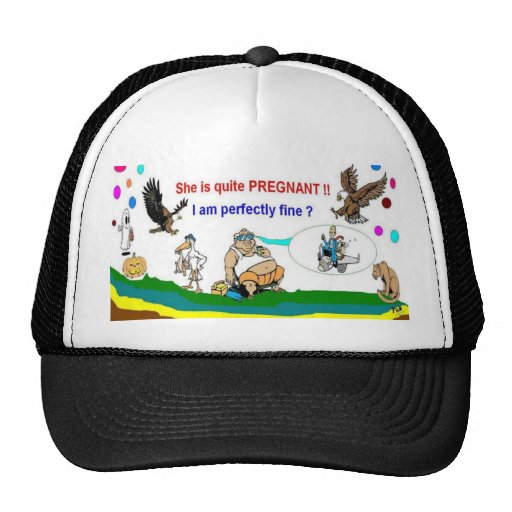 Schwangerschafts-Vati, zum spezielle Hüte zu sein Baseballcap