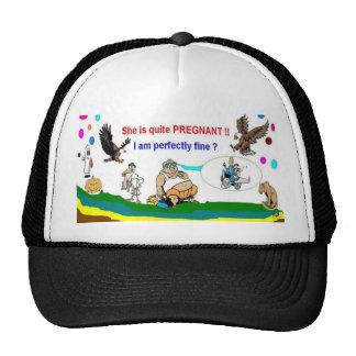 Schwangerschafts-Vati, zum spezielle Hüte zu sein Netzcap