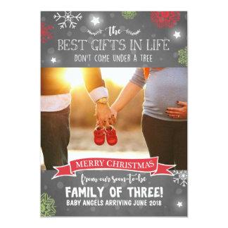 Schwangerschaftsmitteilung der frohen Weihnachten Karte