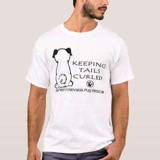 Schwänze Kräuseln-Shirt (Licht) behalten T-Shirt
