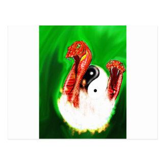 Schwänze von 2 Schlangen Postkarte