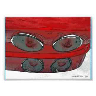 Schwanzlicht des antiken Autos als Kunst-Fotodruck Kunstfotos
