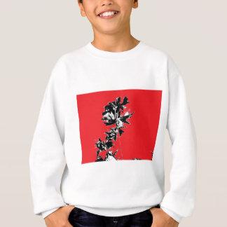 Schwarz-Blätter auf rotem Hintergrund Sweatshirt