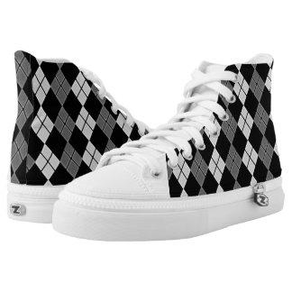Schwarz-Gebräu Hoch-geschnittene Sneaker