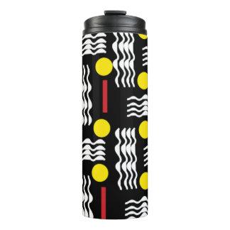 Schwarz, gelb und Rot, abstrakte thermische Schale Thermosbecher