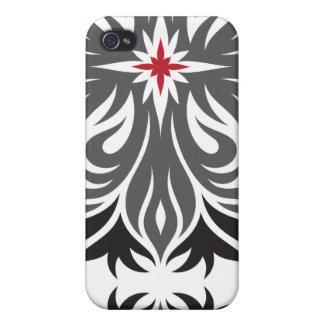 Schwarz-, Grauer u. Roterflippiger Entwurf iPhone 4/4S Hüllen