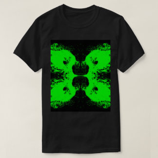 Schwarz/Grün abstraktes #6 T-Shirt