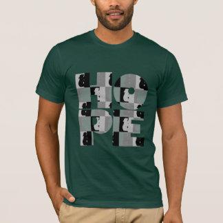 Schwarz-grundlegendes T-Stück die HOFFNUNG der T-Shirt