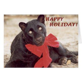 Schwarz-Leopard-Feiertagsbogen Karte