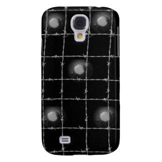 Schwarz-Niete und Stacheldraht Galaxy S4 Hülle