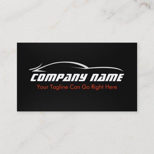 Schwarz Rot Auto Auto Visitenkarte Zazzle De